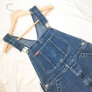 iKEDA Vintage Medium Wash Shortalls